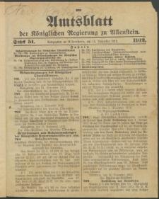 Amtsblatt der Königlichen Regierung zu Allenstein, 1912 Jg. 8, Stück 51