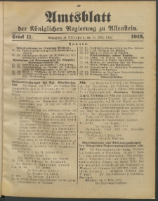Amtsblatt der Königlichen Regierung zu Allenstein, 1913 Jg. 9, Stück 11