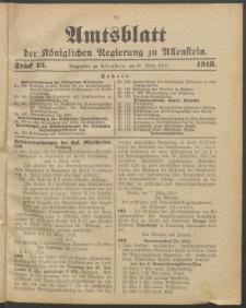 Amtsblatt der Königlichen Regierung zu Allenstein, 1913 Jg. 9, Stück 13 + Sonderbeilage