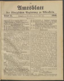 Amtsblatt der Königlichen Regierung zu Allenstein, 1913 Jg. 9, Stück 15 + Sonder-Beilage