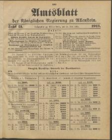 Amtsblatt der Königlichen Regierung zu Allenstein, 1913 Jg. 9, Stück 21