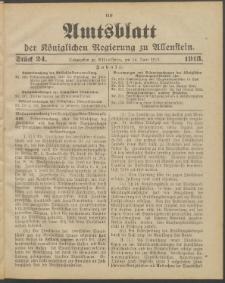Amtsblatt der Königlichen Regierung zu Allenstein, 1913 Jg. 9, Stück 24