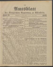 Amtsblatt der Königlichen Regierung zu Allenstein, 1913 Jg. 9, Stück 25