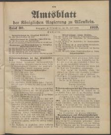 Amtsblatt der Königlichen Regierung zu Allenstein, 1913 Jg. 9, Stück 30