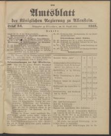 Amtsblatt der Königlichen Regierung zu Allenstein, 1913 Jg. 9, Stück 34 + Sonderbeilage