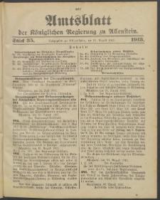 Amtsblatt der Königlichen Regierung zu Allenstein, 1913 Jg. 9, Stück 35