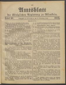 Amtsblatt der Königlichen Regierung zu Allenstein, 1913 Jg. 9, Stück 37