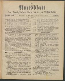 Amtsblatt der Königlichen Regierung zu Allenstein, 1913 Jg. 9, Stück 46 + Extrablatt