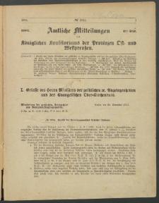 Amtliche Mitteilungen des Königlichen Konsistoriums der Provinzen Ost-und Westpreußen zu Königsberg i[n] Ostpr., 1884, Stück 1