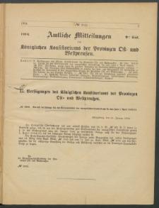 Amtliche Mitteilungen des Königlichen Konsistoriums der Provinzen Ost-und Westpreußen zu Königsberg i[n] Ostpr., 1884, Stück 2