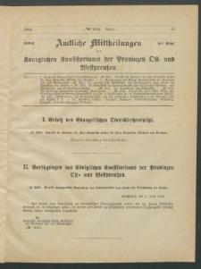 Amtliche Mittheilungen des Königlichen Konsistoriums der Provinzen Ost-und Westpreußen zu Königsberg i[n] Ostpr., 1884, Stück 6