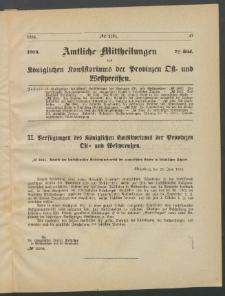Amtliche Mittheilungen des Königlichen Konsistoriums der Provinzen Ost-und Westpreußen zu Königsberg i[n] Ostpr., 1884, Stück 7