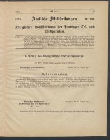 Amtliche Mittheilungen des Königlichen Konsistoriums der Provinzen Ost-und Westpreußen zu Königsberg i[n] Ostpr., 1884, Stück 11