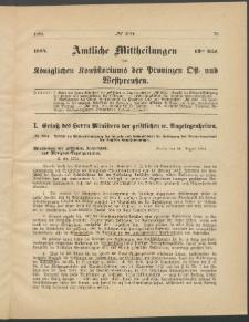 Amtliche Mittheilungen des Königlichen Konsistoriums der Provinzen Ost-und Westpreußen zu Königsberg i[n] Ostpr., 1884, Stück 12