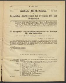 Amtliche Mittheilungen des Königlichen Konsistoriums der Provinzen Ost-und Westpreußen zu Königsberg i[n] Ostpr., 1884, Stück 14
