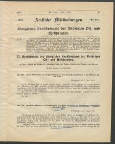 Amtliche Mittheilungen des Königlichen Konsistoriums der Provinzen Ost-und Westpreußen zu Königsberg i[n] Ostpr., 1885, Stück 9