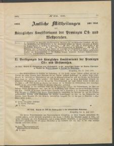 Amtliche Mittheilungen des Königlichen Konsistoriums der Provinzen Ost-und Westpreußen zu Königsberg i[n] Ostpr., 1885, Stück 10