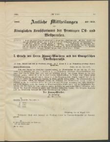 Amtliche Mittheilungen des Königlichen Konsistoriums der Provinzen Ost-und Westpreußen zu Königsberg i[n] Ostpr., 1885, Stück 11