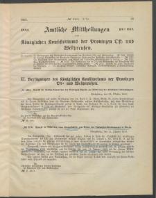 Amtliche Mittheilungen des Königlichen Konsistoriums der Provinzen Ost-und Westpreußen zu Königsberg i[n] Ostpr., 1885, Stück 14