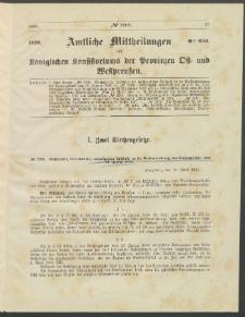 Amtliche Mittheilungen des Königlichen Konsistoriums der Provinzen Ost-und Westpreußen zu Königsberg i[n] Ostpr., 1886, Stück 6