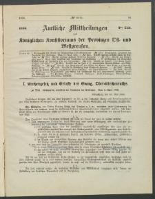 Amtliche Mittheilungen des Königlichen Konsistoriums der Provinzen Ost-und Westpreußen zu Königsberg i[n] Ostpr., 1886, Stück 7