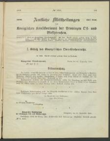 Amtliche Mittheilungen des Königlichen Konsistoriums der Provinzen Ost-und Westpreußen zu Königsberg i[n] Ostpr., 1886, Stück 14