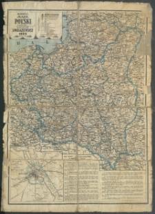 Najnowsza mapa Polski z podziałem na województwa