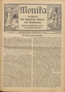 Monika : Zeitschrift für katholische Mütter und Hausfrauen, 1931 Jg. 63, Nr. 8