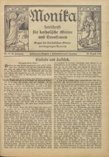 Monika : Zeitschrift für katholische Mütter und Hausfrauen, 1931 Jg. 63, Nr. 16