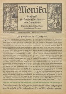 Monika : Zeitschrift für katholische Mütter und Hausfrauen, 1931 Jg. 63, Nr. 19