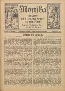 Monika : Zeitschrift für katholische Mütter und Hausfrauen, 1931 Jg. 63, Nr. 22