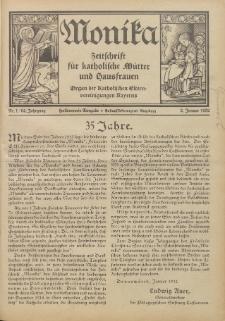 Monika : Zeitschrift für katholische Mütter und Hausfrauen, 1932 Jg. 64, Nr. 1