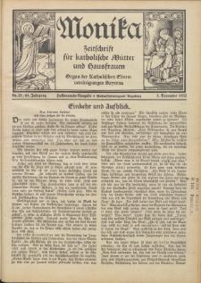 Monika : Zeitschrift für katholische Mütter und Hausfrauen, 1932 Jg. 64, Nr. 21