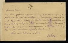 [List Wojciecha Kętrzyńskiego do Oswalda Balzera]