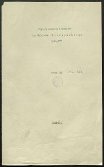 Papiery osobiste i urzędowe ś.p. Wojciecha Kętrzyńskiego 1859-1917