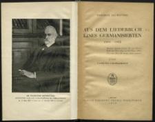Aus dem Liederbuch eines Germanisierten 1854-1862
