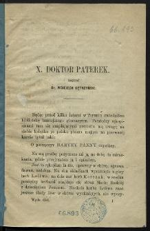 X. Doktor Paterek