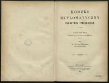 [Przedmowa do: Kodeks dyplomatyczny klasztoru tynieckiego. Część pierwsza obejmująca rzeczy od roku 1105 do roku 1399]