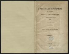O Stanisławie Górskim, kanoniku płockim i krakowskim i jego dziełach