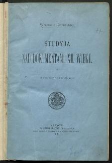 Studyja nad dokumentami XII wieku