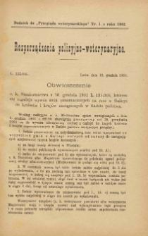 """Dodatek do """"Przeglądu Weterynarskiego"""" nr 1 z roku 1902"""