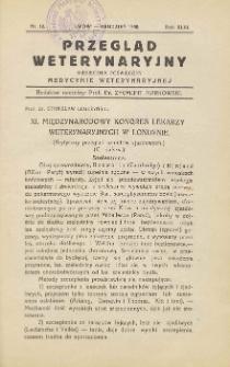 Przegląd Weterynaryjny : miesięcznik poświęcony medycynie weterynaryjnej, 1930 R. 43, nr 12