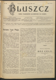 Bluszcz : pismo tygodniowe ilustrowane dla kobiet, 1907 R. 43, nr 19