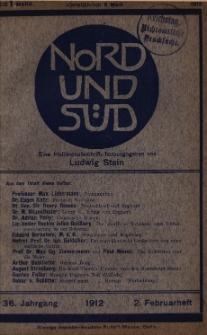 Nord und Süd : deutsche Halbmonastsschrift, 1912 Jg. 36, Bd. 140, Heft 448