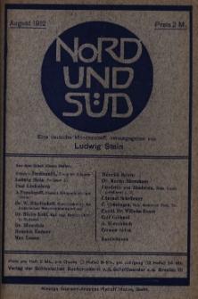Nord und Süd : eine deutsche Monatsschrift, 1912 Jg. 36, Bd. 142, Heft 455