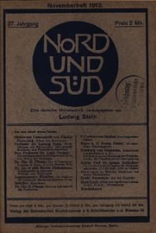 Nord und Süd : deutsche Halbmonastsschrift, 1912 Jg. 37, Bd. 143, Heft 458