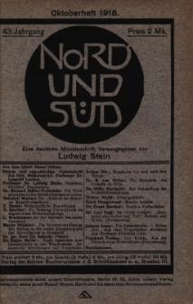 Nord und Süd : eine deutsche Monatsschrift, 1918 Jg. 43, Bd. 167, Heft 529