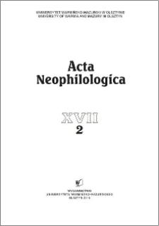 Acta Neophilologica XVII (2), 2015