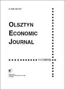 Olsztyn Economic Journal 11 (1/2016), 2016
