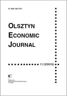 Olsztyn Economic Journal 11 (3/2016), 2016